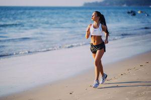 sexy girl running