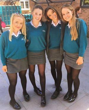 black teen uniform